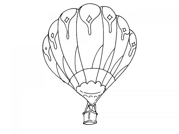 montgolfiere coloriage