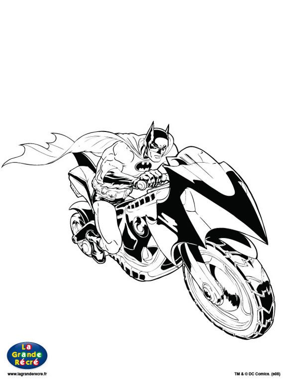 Coloriage batman et sa moto dessin gratuit imprimer - Coloriage a imprimer batman gratuit ...