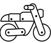 Coloriage et dessins gratuit Moto en bois à imprimer