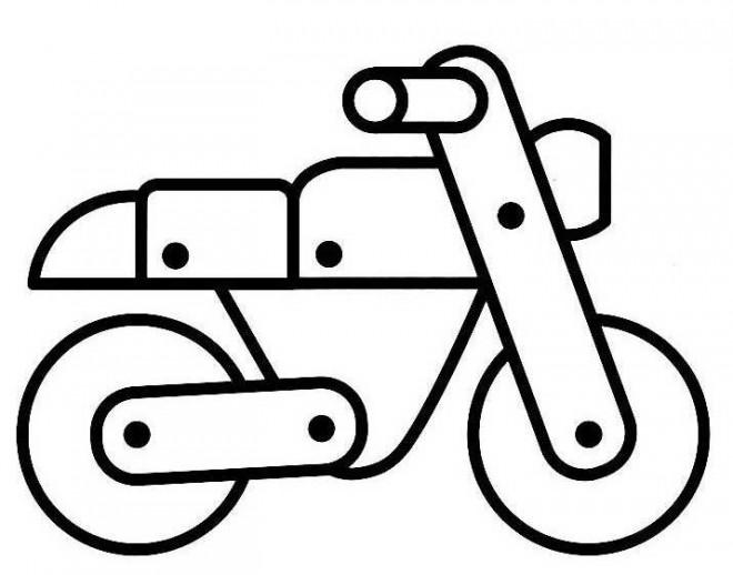 Coloriage et dessins gratuits Moto en bois à imprimer