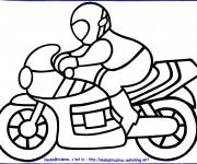 Coloriage Moto Enfant 7