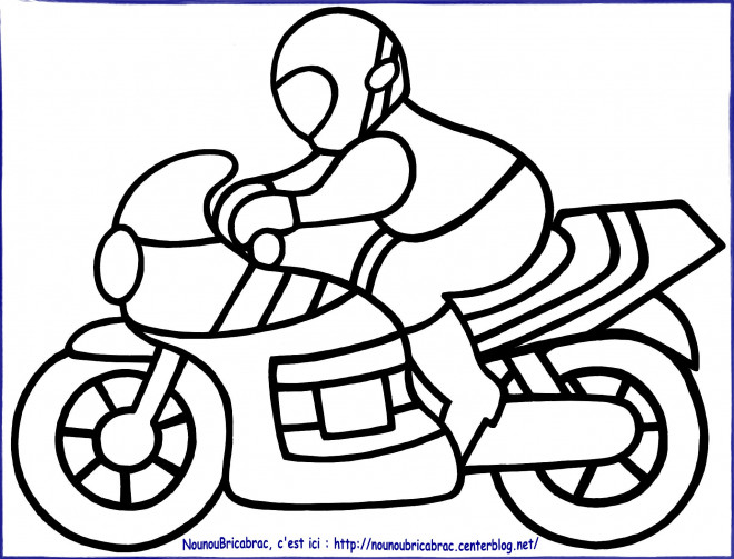 Coloriage moto enfant 7 dessin gratuit imprimer - Dessin moto sportive ...