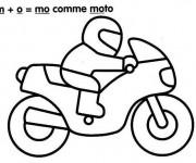 Coloriage et dessins gratuit Moto Enfant stylisé à imprimer