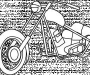 Coloriage et dessins gratuit Moto Harley Davidson en couleur à imprimer