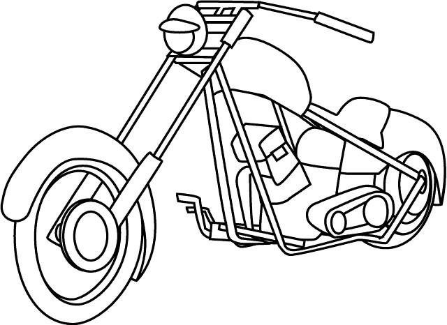 Coloriage et dessins gratuits Moto Harley Davidson en couleur à imprimer