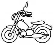 Coloriage et dessins gratuit Moto Jouet d'enfant à imprimer