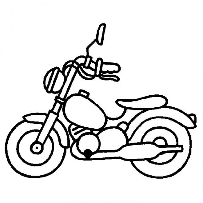 Coloriage Moto Jouet D'enfant Dessin Gratuit à Imprimer