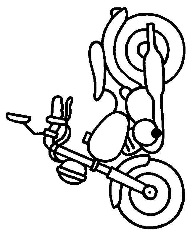 Coloriage et dessins gratuits Moto Jouet pour garçon à imprimer
