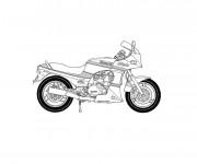 Coloriage Moto Kawasaki pour enfant