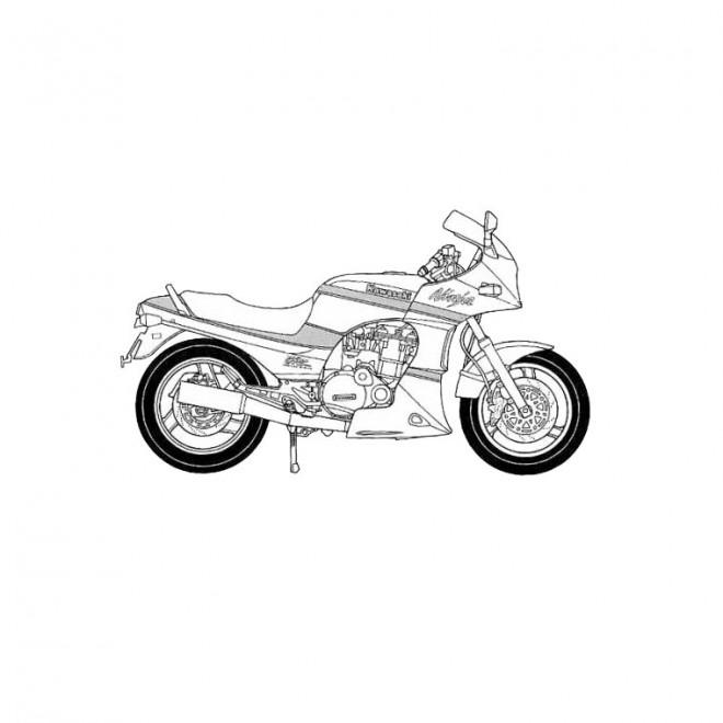 Coloriage et dessins gratuits Moto Kawasaki pour enfant à imprimer