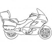 Coloriage et dessins gratuit Moto maternelle à imprimer