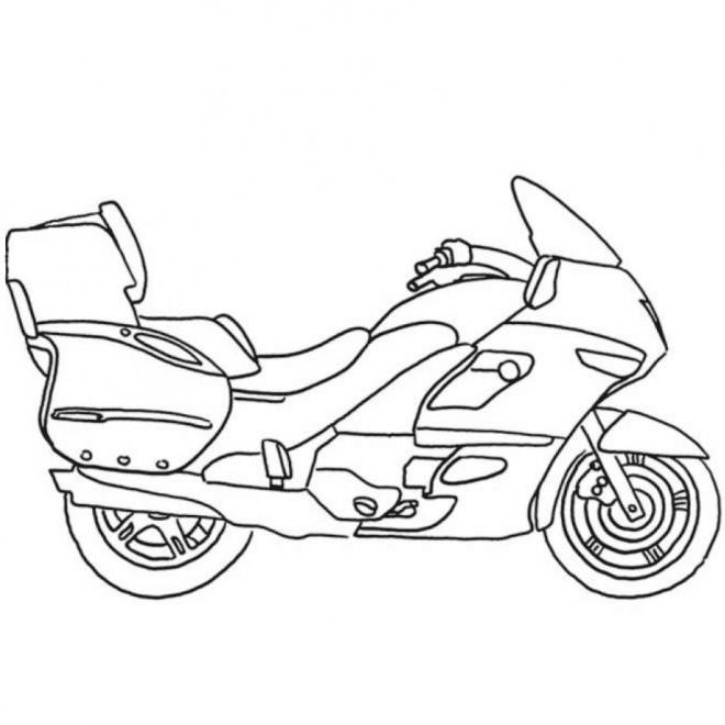 Coloriage et dessins gratuits Moto maternelle à imprimer
