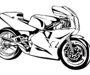 Coloriage et dessins gratuit Moto sport vecteur à imprimer