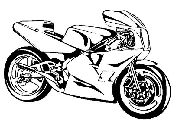 Coloriage moto sport vecteur dessin gratuit imprimer - Image moto sportive ...