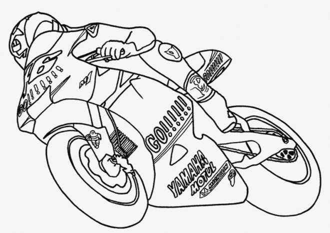 coloriage moto yamaha en course dessin gratuit imprimer. Black Bedroom Furniture Sets. Home Design Ideas