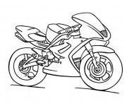 Coloriage et dessins gratuit Moto Yamaha Enfant à imprimer