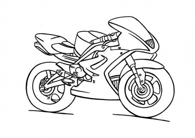 Coloriage Moto Yamaha Enfant Dessin Gratuit à Imprimer