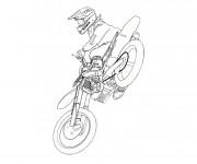 Coloriage Motocross 3