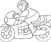 Coloriage Motocyclette et pilote
