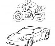 Coloriage et dessins gratuit Voiture et Moto Honda à imprimer