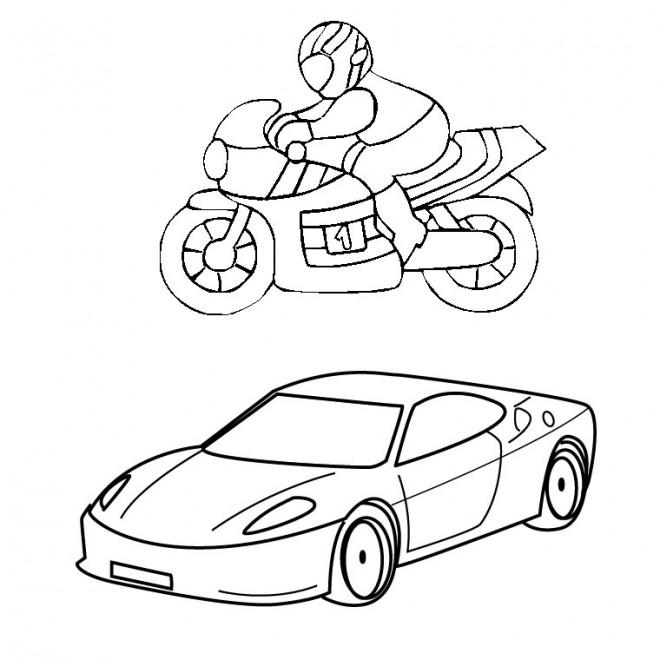 Coloriage Voiture Et Moto Honda Dessin Gratuit A Imprimer