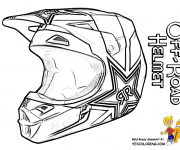 Coloriage Casque de Moto Cross