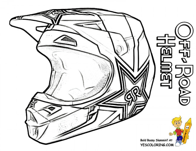 coloriage casque de moto cross dessin gratuit  u00e0 imprimer