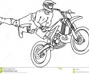 Coloriage Illustrations Motocross freestyle