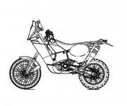Coloriage Moto de course stylisé
