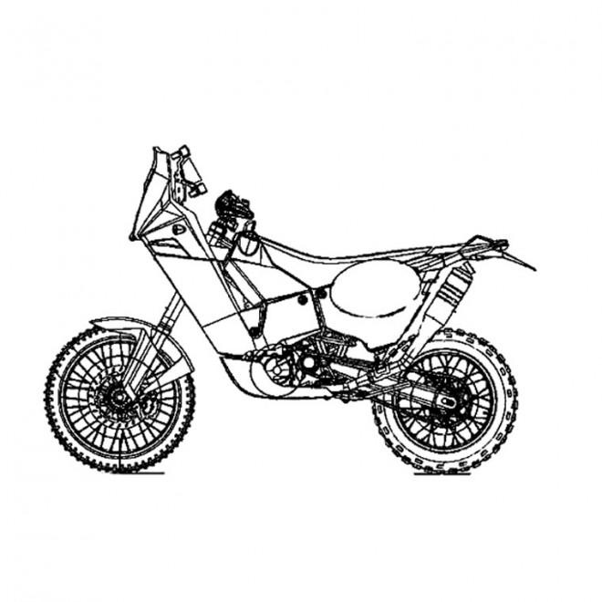 Coloriage et dessins gratuits Moto de course stylisé à imprimer