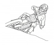Coloriage Motocross 1