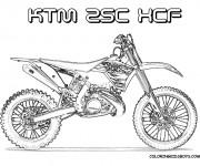 Coloriage Motocross 14