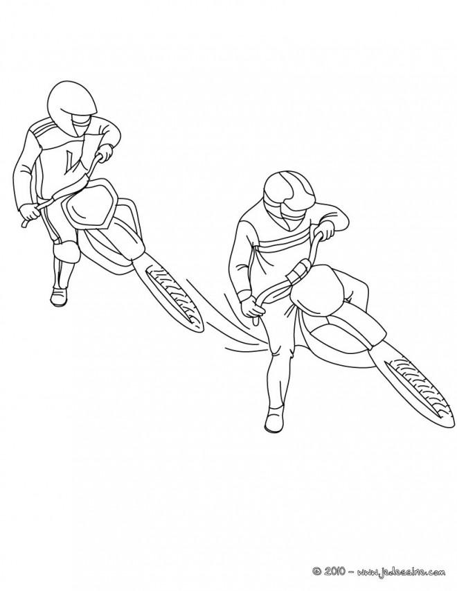 Coloriage et dessins gratuits Motocross à colorier facile à imprimer