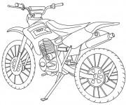 Coloriage et dessins gratuit Motocross classique à imprimer