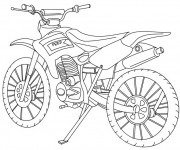 Coloriage Motocross classique
