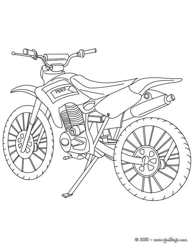 Coloriage et dessins gratuits Motocross classique à imprimer