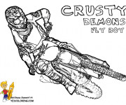 Coloriage Motocross Crusty Demons