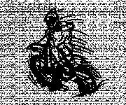 Coloriage Motocross en sautant pendant le show