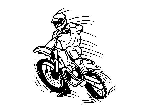 Coloriage et dessins gratuits Motocross en sautant pendant le show à imprimer