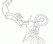 Coloriage Motocross et Le Show Freestyle