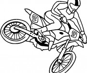 Coloriage Motocross facile