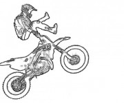 Coloriage Motocross Freestyle impressionnant