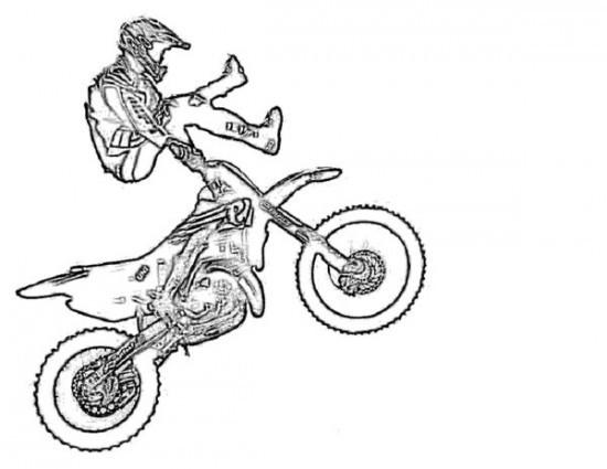 Coloriage Motocross Freestyle Impressionnant Dessin Gratuit A Imprimer