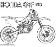 Coloriage Motocross Honda CRF
