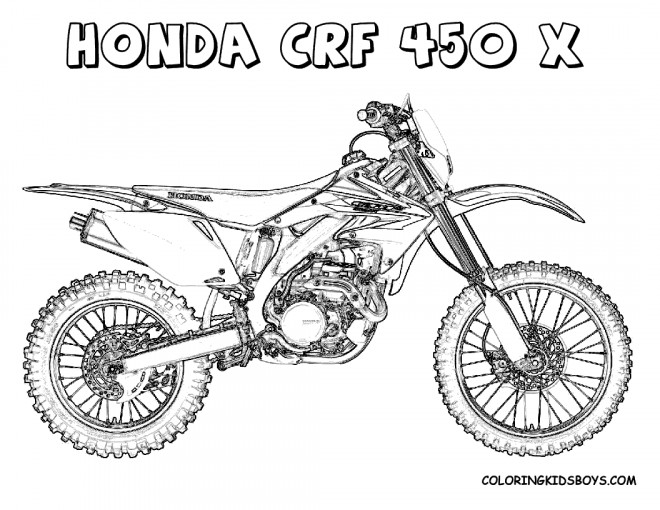 coloriage motocross honda crf dessin gratuit imprimer. Black Bedroom Furniture Sets. Home Design Ideas