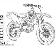 Coloriage et dessins gratuit Motocross Kawasaki à imprimer