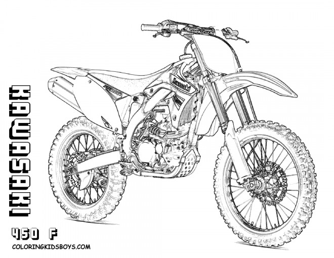 coloriage motocross kawasaki dessin gratuit imprimer. Black Bedroom Furniture Sets. Home Design Ideas