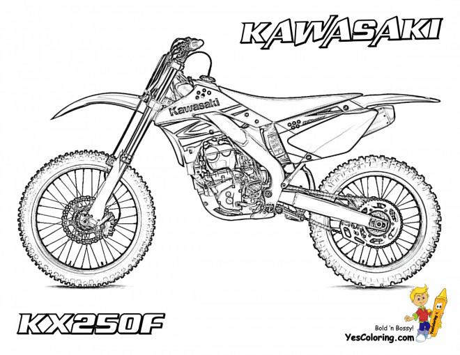 Coloriage motocross kawasaki kx250f dessin gratuit imprimer - Moto a colorier en ligne ...