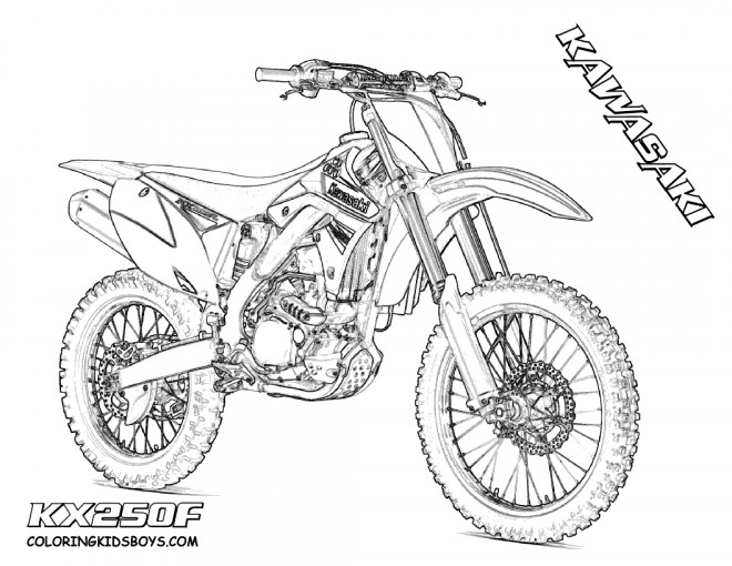 coloriage motocross kawasaki pour spectacle dessin gratuit imprimer. Black Bedroom Furniture Sets. Home Design Ideas