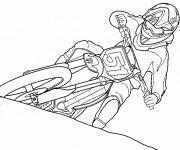 Coloriage et dessins gratuit Motocross Ktm à imprimer